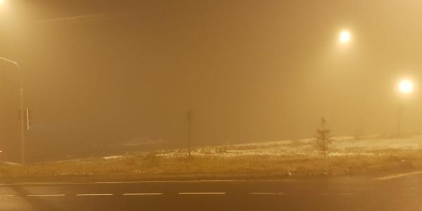 Yoğun sis görüş mesafesini azalttı
