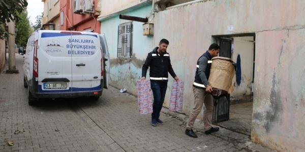 Şanlıurfa Belediyesi'nden ihtiyaç sahiplerine soba dağıtıldı