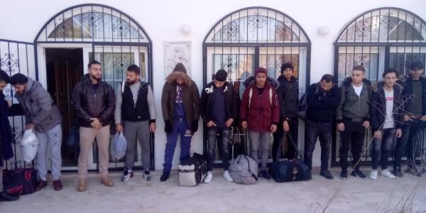 Aydın Didim'de düzenlenen operasyonda 23 kaçak göçmen yakalandı