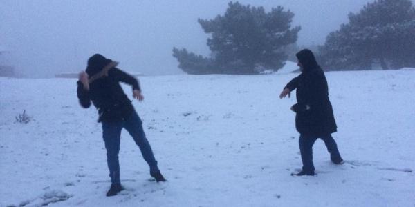 İzmirlilerin kar hasreti son buldu