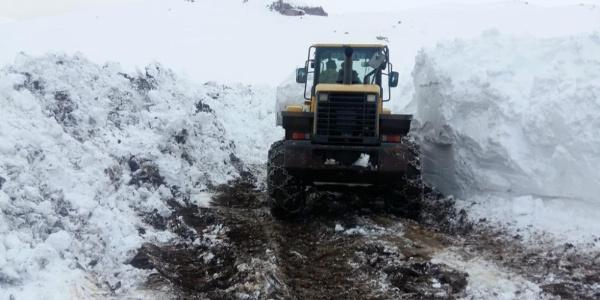 Beytüşşebap'ta yoğun kar yağışı nedeniyle kapanan köy yolları ulaşıma açıldı