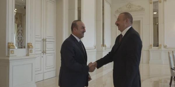 Azerbaycan Cumhurbaşkanı İlham Aliyev, Dışişleri Bakanı Çavuşoğlu'nu kabul etti