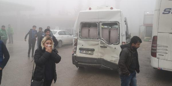Bursa'da etkili olan sis nedeniyle zincirleme kaza meydana geldi: 7 yaralı