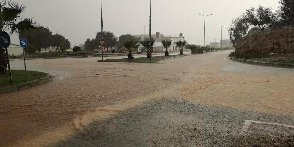 Bodrum'da etkili olan sağanak sele neden oldu