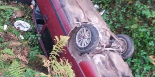 Fatsa'da tomobil fındık bahçesine uçtu: sürücü yaralı