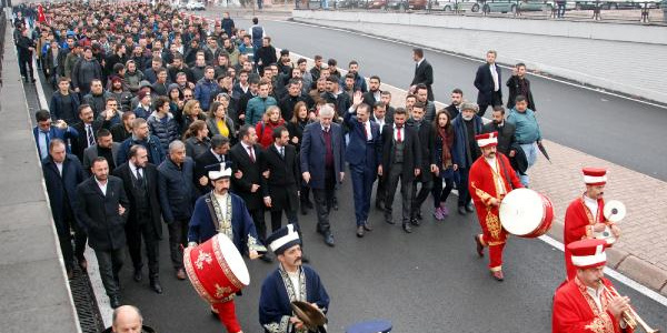 Kayseri'de Sarıkamış şehitleri içi yürüyüş yapıldı