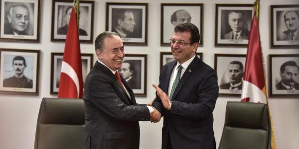 CHP İstanbul Büyükşehir Belediye Başkanı adayı İmamoğlu'ndan Galatasaray Kulübü'ne ziyaret