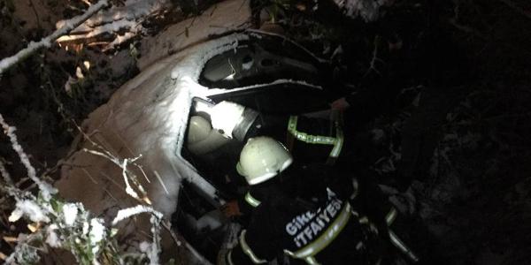 Giresun'da yoğun kar yağışı nedeniyle trafik kazası meydana geldi: 1 ölü, 3 yaralı