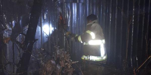 Bitkisel ürünler üreten fabrikasının deposunda yangın