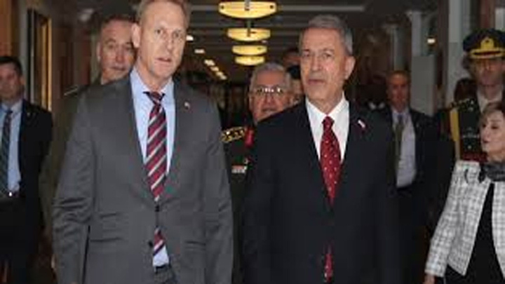 Bakan Hulusi Akar, ABD Savunma Bakan Vekili Shanahan ile Pentagon'da görüştü