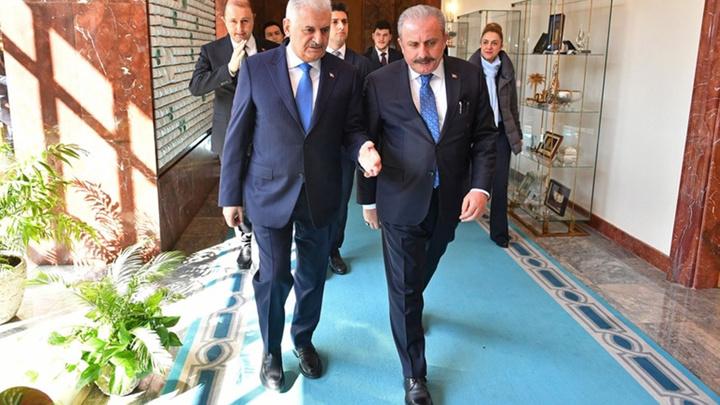 Meclis Başkanı Şentop'un ilk ziyaretçisi Binali Yıldırım