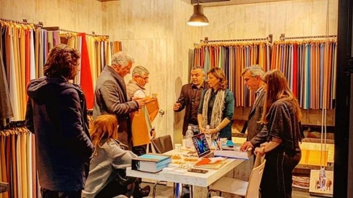 Bilecik'teki bir deri fabrikası Milano'daki fuara katıldı