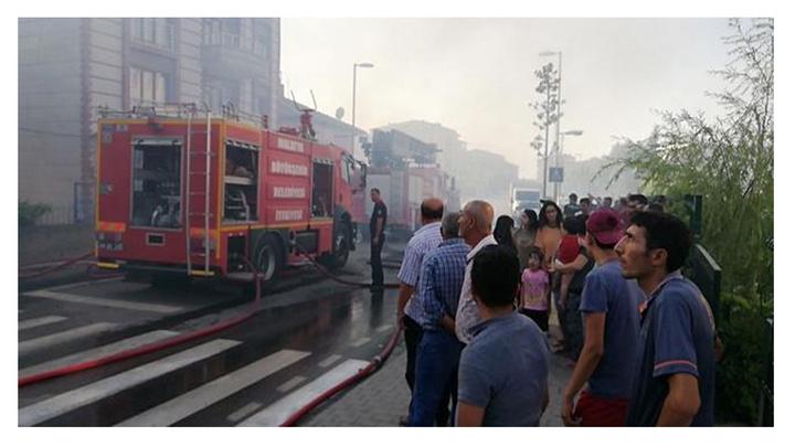 Malatya'da bir evde çıkan yangını