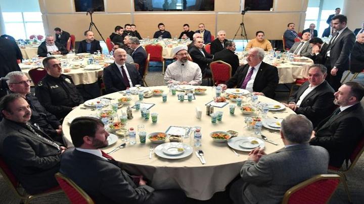 Diyanet İşleri Başkanı Ali Erbaş iş adamlarıyla başkentte bir araya geldi