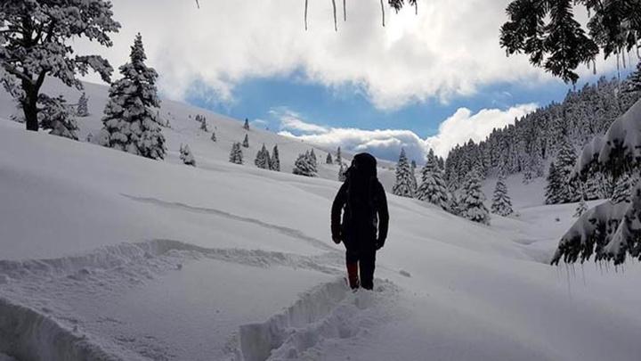 Uludağ'da kar kalınlığı 171 santimetre