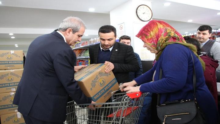 Şanlıurfa'da İhtiyaç sahibi ailelere gıda yardımı yapıldı