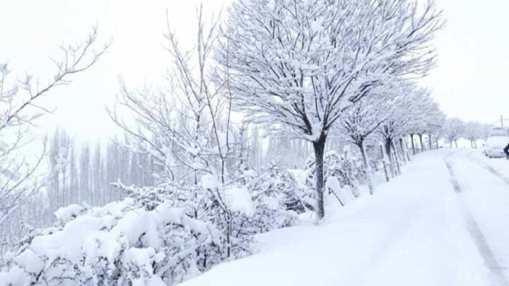 Bahçesaray karlar altında