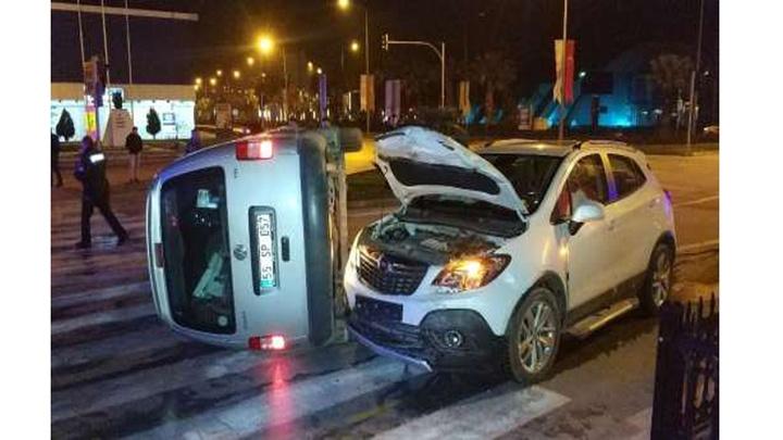 Samsun'da meydana gelen trafik kazasında 2 kişi yaralandı