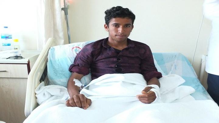 Taha'nın kolu Bandırma Devlet Hastanesi'nde başarılı bir operasyonla kesilmekten kurtarıldı