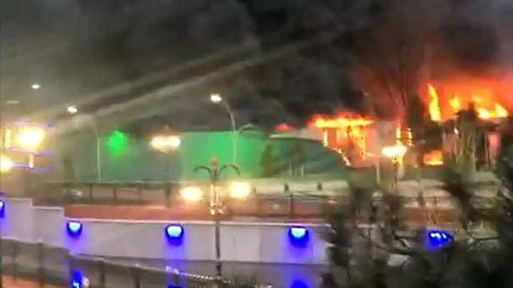 Başkentte aqua parkta çıkan yangın, büyük hasara neden oldu