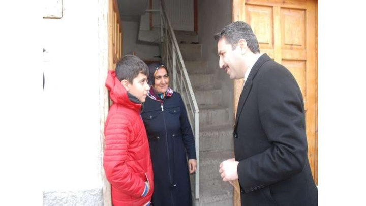 Tokat Belediye Başkanı Eyüp Eroğlu Erenler Mahallesi'nde çat kapı ziyaretler yaptı