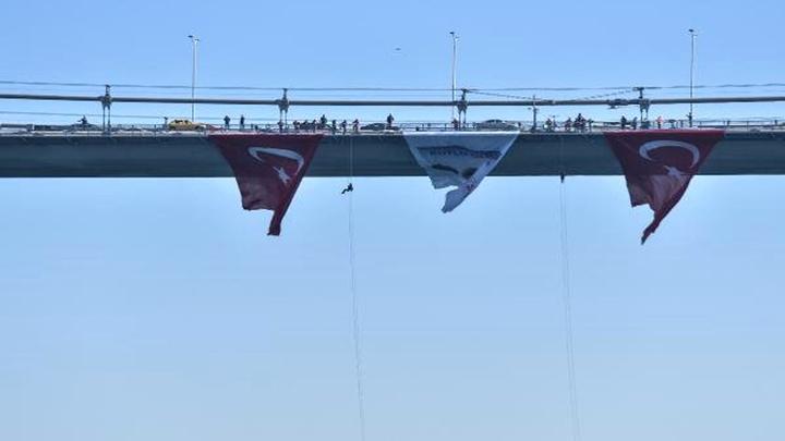 Kadın komandolar 15 Temmuz Şehitler köprüsünden indi