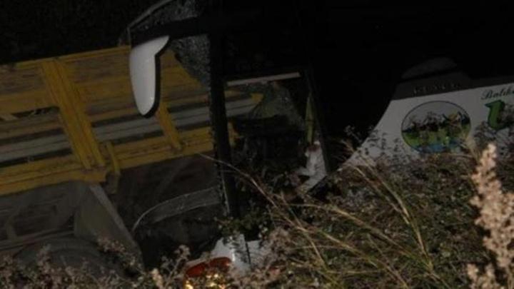 Gömeç'te yolcu otobüsü kamyona çarptı: Kazada 2 kişi öldü, 2'si ağır olmak üzere 7 kişi yaralandı