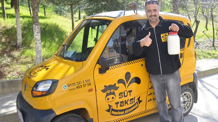 'Süt taksi' projesini hayata geçirmek için yöneticiliği bıraktı