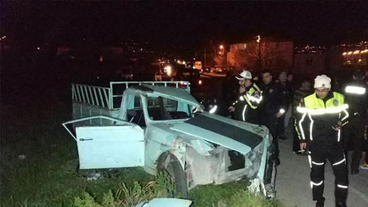 Samsun Canik'te kamyonet takla attı, 8 kişi yaralandı