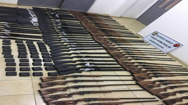 Hakkari'de sınır hattında av tüfekleri ve malzemeleri ele geçirildi