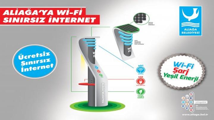 Aliağa Belediyesi vatandaşlara ücretsiz sınırsız internet hizmeti sunacak