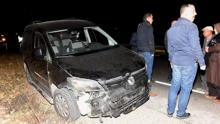 Kırıkkale'de yola inen domuz sürüsü, kazaya neden oldu: 5 domuz telef oldu, 2 otomobil hasar gördü