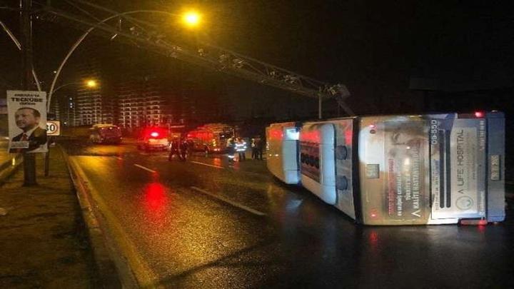 Ankara'da EGO otobüsü devrildi: Otobüste sürücü dışında kimsenin olmaması faciayı önledi