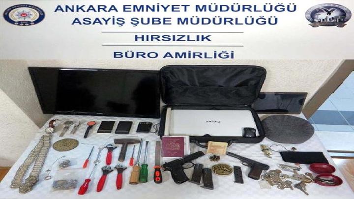 Ankara'da 2 kişilik hırsızlık şebekesi yakalandı