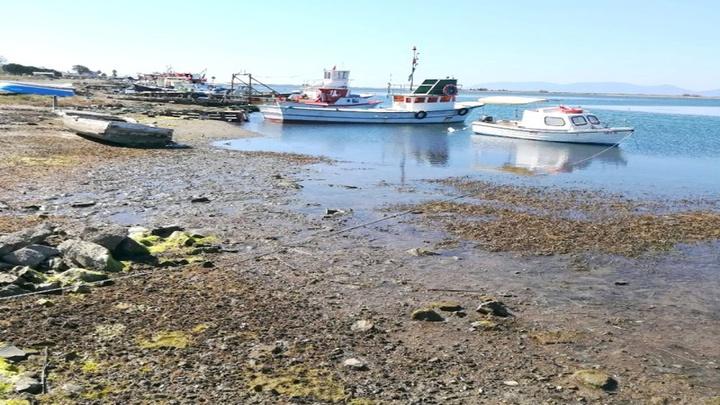 Balıkesir'de denizin 20 metreye kadar çekilmesi endişelendirdi