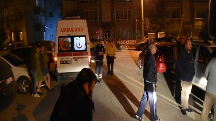 Edirne'de öğrenci evinde yangın