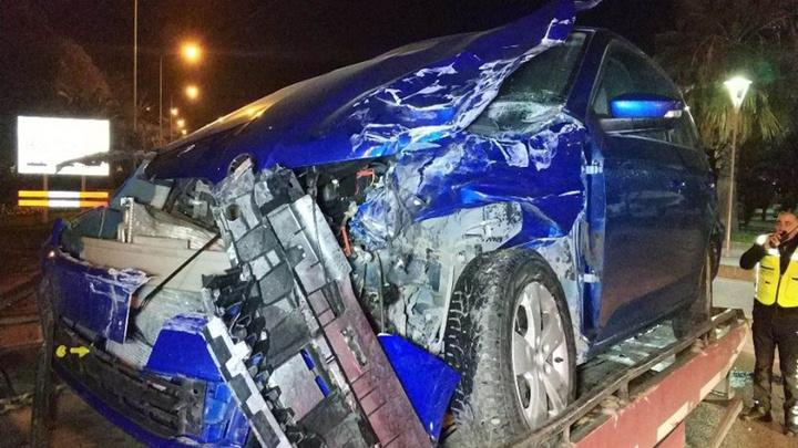 Samsun'da minibüs ile otomobil çarpıştığı kazada 2 yaralı