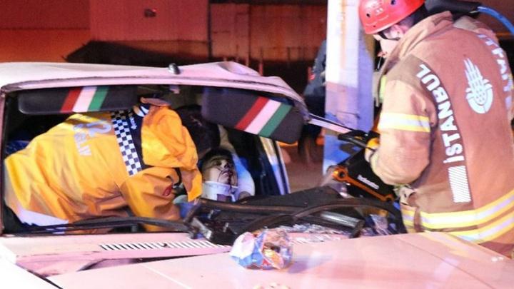 Kadıköy'de 14 yaşındaki çocuk kaza yaptı