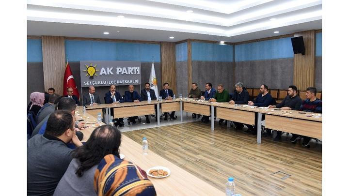 Konya Büyükşehir Belediye Başkanı Uğur İbrahim Altay'dan AK Parti Teşkilatlarına teşekkür ziyareti