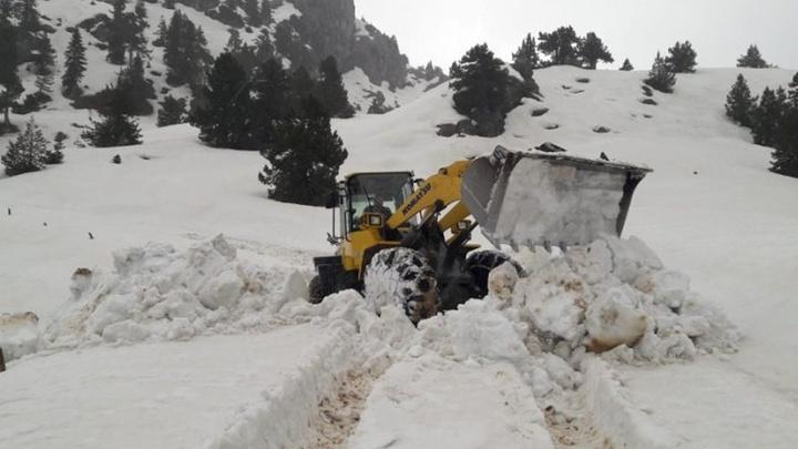 Kahramanmaraş'ta karla mücadele çalışmaları devam ediyor