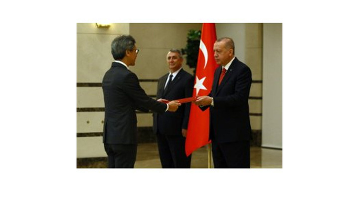 Cumhurbaşkanı Recep Tayyip Erdoğan, Singapur Büyükelçisini kabul etti