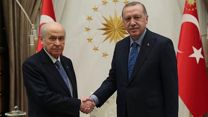 Cumhurbaşkanı Recep Tayyip Erdoğan, MHP Genel Başkanı Devlet Bahçeli'yi kabul edecek.
