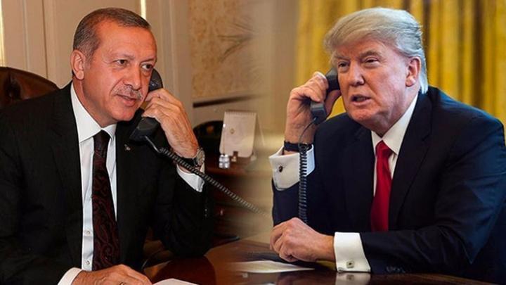 Cumhurbaşkanı Recep Tayyip Erdoğan ile ABD Başkanı Donald Trump telefonla görüştü