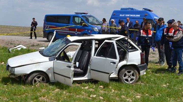 Aksaray'da otomobil şarampole devrildiği kazada bir kişi hayatını kaybetti