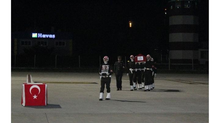 Şehit Sözleşmeli Er Yalçın Koca askeri törenle memleketi Çankırı'ya uğurlandı