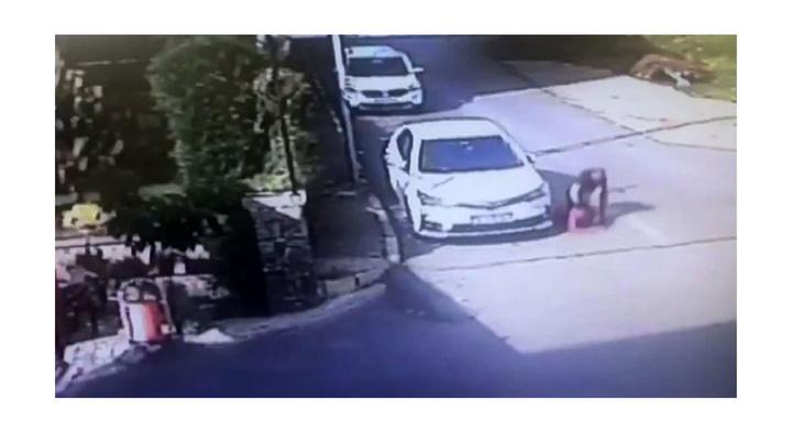 Tuzla'da erik çekirdeklerini atan çocuğu öldüresiye döven magandayı kameralar kaydetti