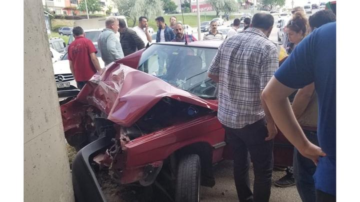 Bursa'da meydana gelen trafik kazasında 1 kişi yaralandı