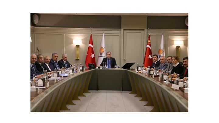 AK Parti MYK, Cumhurbaşkanı Recep Tayyip Erdoğan başkanlığında toplandı