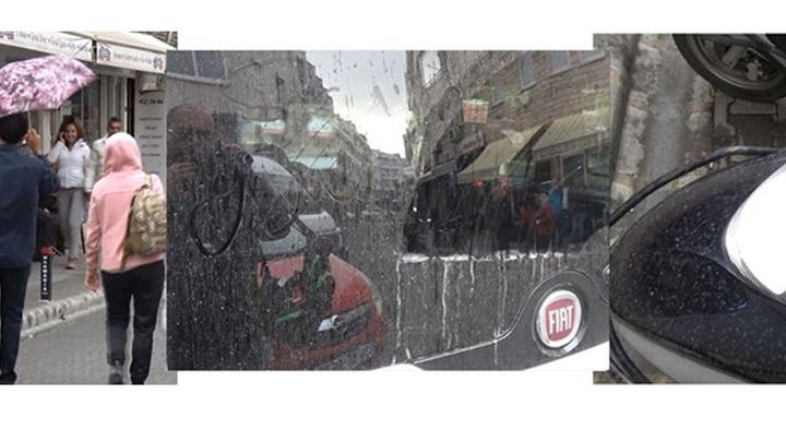 Marmaris'e yağmurla birlikte çamur yağdı