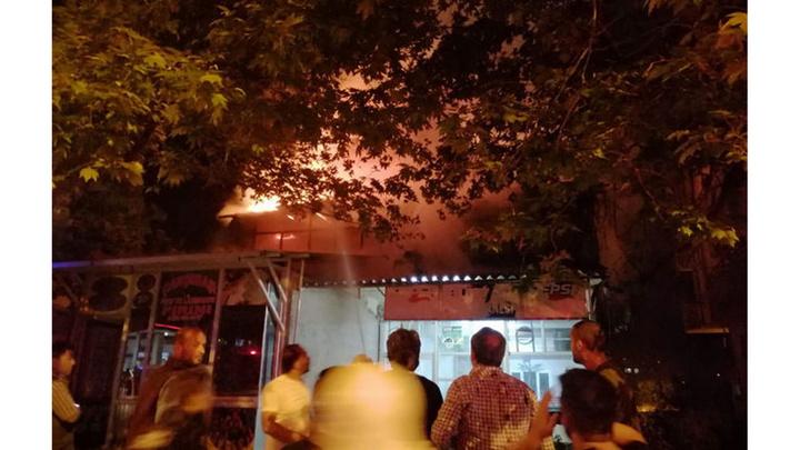 Gaziantep'te depo yangını paniğe neden oldu